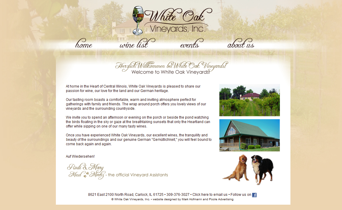 White Oak Vineyards Homepage